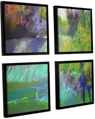 "Darby Home Co Flowing Through 4 Piece Framed Painting Print on Canvas DRBC7990 Size: 36"" H x 36"" W x 2"" D"