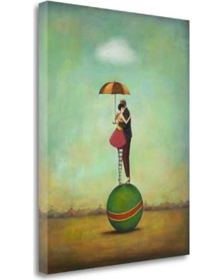"""Tangletown Fine Art 'Circus Romance' Graphic Art Print on Wrapped Canvas ICH1104D-2024c Size: 40"""" H x 32"""" W"""