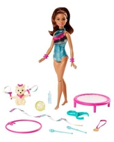 Barbie Dreamhouse Adventures Spin n Twirl Gymnast Doll and Accessories - Multi