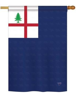 "Breeze Decor Bunker Hill 2-Sided Polyester House Flag 58179 Size: 40"" H x 28"" W"