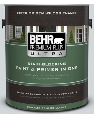 BEHR Premium Plus Ultra 1 gal. #PPU26-12 Solemn Silence Semi-Gloss Enamel Exterior Paint and Primer in One