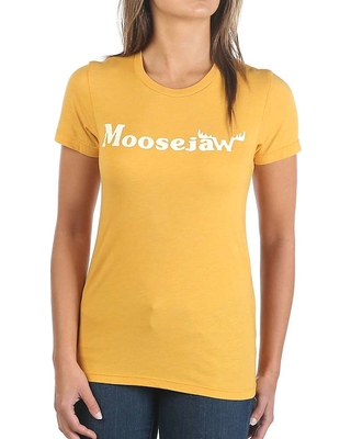 Moosejaw Women's Original Vintage Regs SS Tee - Small - Golden Yellow / White