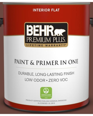 BEHR Premium Plus 1 gal. #PPU3-19 Moroccan Henna Flat Low Odor Interior Paint and Primer in One