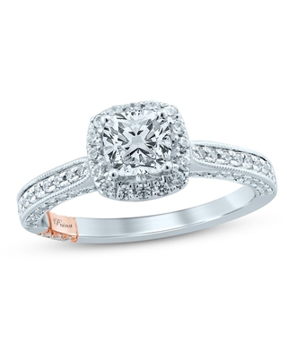 Jared The Galleria Of Jewelry Pnina Tornai Yes Forever Diamond Engagement Ring 1-1/2 ct tw Cushion/Round 14K Two-Tone Gold