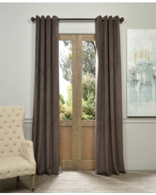 "Exclusive Fabrics & Furnishings Signature Grommet Blackout Velvet 50"" x 120"" Curtain Panel"