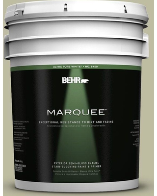 BEHR MARQUEE 5 gal. #ppf-24 Garden Lattice Semi-Gloss Enamel Exterior Paint and Primer in One