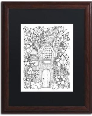"""Trademark Art Tree House' Framed Graphic Art on Canvas ALI3558-W1 Size: 14"""" H x 11"""" W x 0.5"""" D Matte Color: Black"""