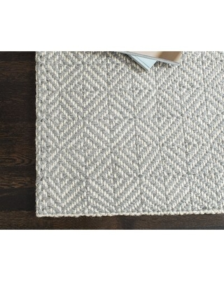 """Cosgrove Handwoven Gray/White Area Rug Rug Size: Runner 2'6"""" x 8'"""