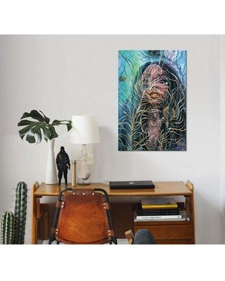 """East Urban Home 'Veil' Graphic Art Print on Wrapped Canvas ESUH7751 Size: 12"""" H x 8"""" W x 0.75"""" D"""