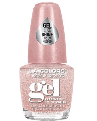 L.A. Colors Gel Shine Nail Polish, Pink Sugar, 0.44 Fluid Ounce (Pack of 3)