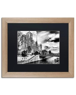 The Best Sales For Trademark Fine Art Notre Dame Cathedral Paris Ii Framed Photographic Print Matte Canvas Fabric In Black Size 16 H X 20 W X 0 5 D Wayfair