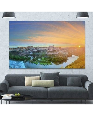 """Design Art 'Hill over the Tagus River Spain' Photographic Print on Wrapped Canvas PT15145 Size: 40"""" H x 60"""" W x 1.5"""" D"""
