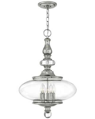 Yenovk 5 - Light Candle Style Globe Chandelier with Crystal Accents