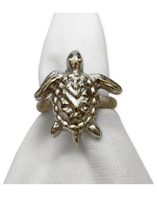 Turtle Motif Metal Napkin Ring