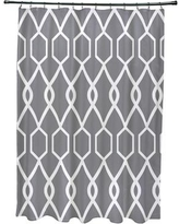 e by design Charleston Geometric Print Shower Curtain SCGN235 Color: Grape