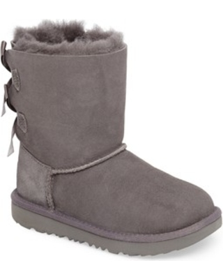 Toddler Girl's UGG Bailey Bow Ii Water Resistant Genuine Shearling Boot, Size 7 M - Grey