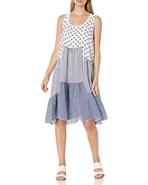 M Made in Italy Women's Casual Dress, White Combo
