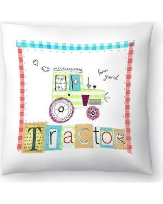 """East Urban Home Liz and Kate Pope Tractor Throw Pillow EBIC1700 Size: 20"""" x 20"""""""