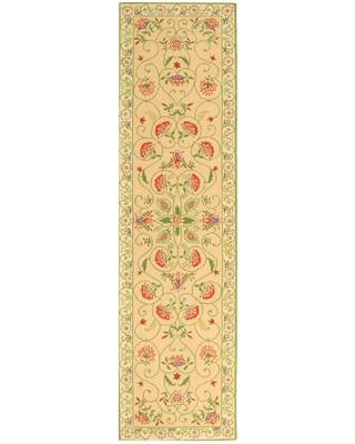 """August Grove Kinchen Hand-Hooked Wool Beige Area Rug AGGR3796 Rug Size: Runner 2'6"""" x 6'"""