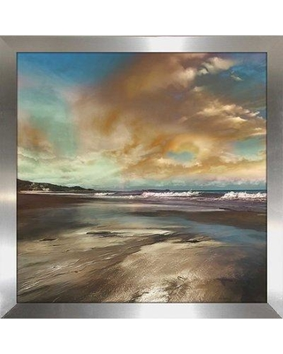 """Highland Dunes 'Reflection' Framed Graphic Art Print BF126303 Size: 33.5"""" H x 33.5"""" W x 0.75"""" D"""