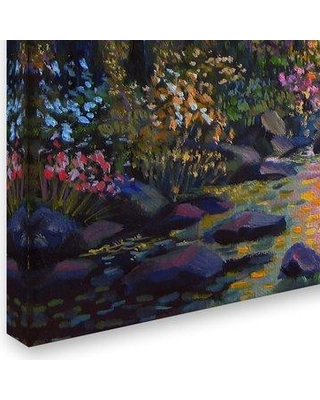 """Trademark Art 'Wooded Stream' Print on Wrapped Canvas ALI12742-C Size: 24"""" H x 32"""" W"""
