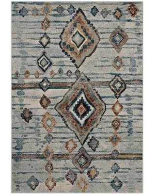 Bloomsbury Market Fiala Moroccan Diamond Beige/Brown Area Rug BI023675 Rug Size: Rectangle 8' x 10'