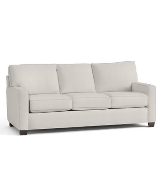 Buchanan Square Arm Upholstered Sleeper Sofa, Polyester Wrapped Cushions, Performance Heathered Tweed Ivory