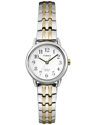 Women's Easy Reader Dress Watch, Two-Tone Stainless Steel Expansion Band