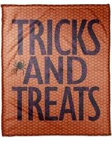 "The Holiday Aisle Tricks and Treats Fleece Throw THDA5442 Size: 30"" W x 40"" L"