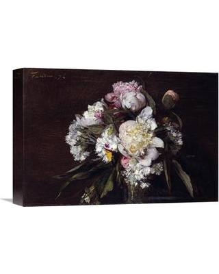 "Global Gallery 'Peonies White Carnations and Roses' by Henri Fantin-Latour Painting Print on Wrapped Canvas GCS-264880 Size: 15.29"" H x 22"" W x 1.5"" D"