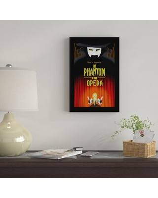 """'The Phantom Of The Opera By Diana Barron' By Creative Action Network Graphic Art Print on Wrapped Canvas East Urban Home Size: 40"""" H x 26"""" W x 1.5"""""""