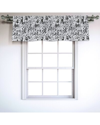 """Letter 54"""" Window Valance East Urban Home"""