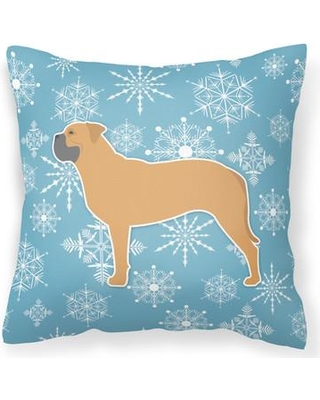 "East Urban Home Winter Snowflakes Indoor/Outdoor Throw Pillow EUME9216 Size: 14"" H x 14"" W x 3"" D"