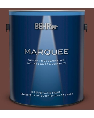 BEHR MARQUEE 1 gal. #S-G-750 Chocolate Sprinkle Satin Enamel Interior Paint and Primer in One