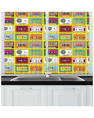 2 Piece 70s Party Kitchen Curtain East Urban Home