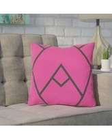 """Wade Logan Barbagallo Polyester Throw Pillow WDLN3738 Size: 18"""" H x 18"""" W Color: Pink"""
