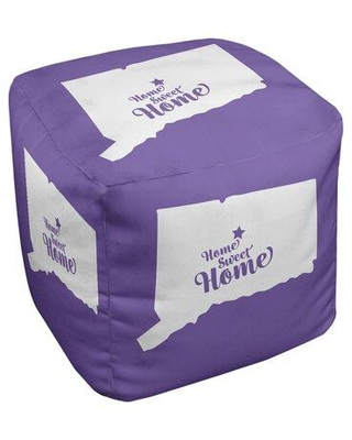 East Urban Home Home Sweet Hartford Cube Ottoman EBJC3441 Upholstery Color: Purple