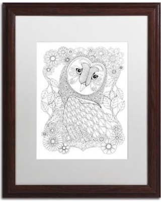 "Trademark Art 'Animals' Framed Graphic Art on Canvas ALI2978-W1114BMF / ALI2978-W1620BMF Size: 20"" H x 16"" W x 0.5"" D Matte Color: White"