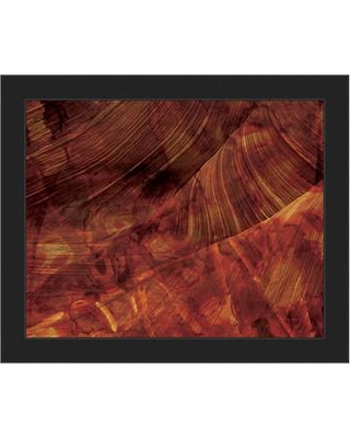 "Click Wall Art 'Red Planet' Framed Graphic Art ABS0000428F Format: Black Framed Size: 13.5"" H x 16.5"" W"