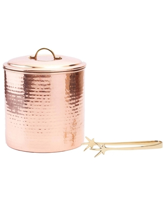 Old Dutch 3qt Stainless Steel Ice Bucket with Brass Tongs