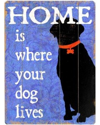 Artehouse LLC Where Your Dog Lives Graphic Art Print Multi-Piece Image on Wood 0003-9690-26