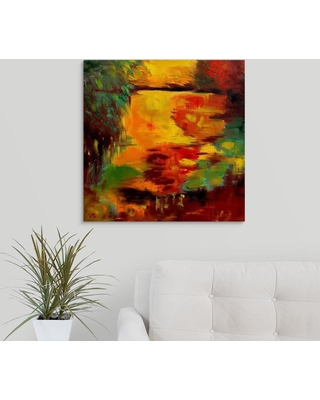 """GreatBigCanvas 24 in. x 24 in. """"Pond 12"""" by Pol Ledent Canvas Wall Art, Multi-Color"""