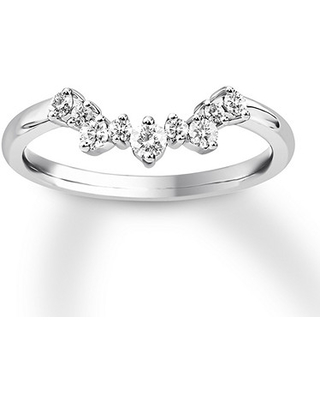 Big Deal On Diamond Enhancer Ring 1 4 Ct Tw Round Cut 14k White Gold
