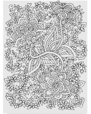 """Trademark Art 'Floral 26' Drawing Print on Wrapped Canvas ALI36997-CGG Size: 19"""" H x 14"""" W x 2"""" D"""
