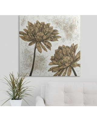 "Great Big Canvas 'Washed Dahlias I' Megan Meagher Painting Print 2432757_1_ Size: 20"" H x 20"" W x 1.5"" D Format: Canvas"