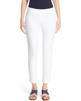 Women's Lafayette 148 New York 'Stanton' Slim Leg Ankle Pants, Size 8 - White