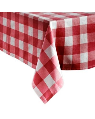 Farmhouse Living Buffalo Check 60-Inch x 120-Inch Oblong Tablecloth in Red