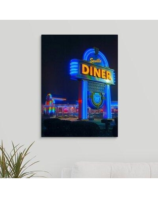 """Ebern Designs 'Jersey Diner' Photographic Print on Canvas X111853375 Size: 24"""" H x 18"""" W x 1.5"""" D"""
