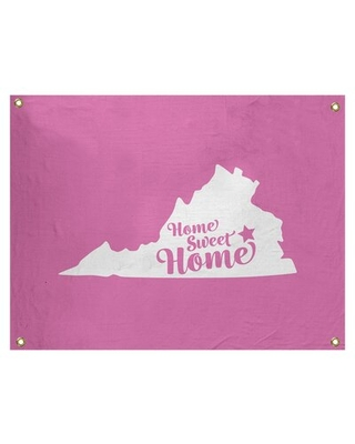 """Home Sweet Richmond Wall Tapestry East Urban Home Size: 26"""" H x 36"""" W, Color: Pink"""