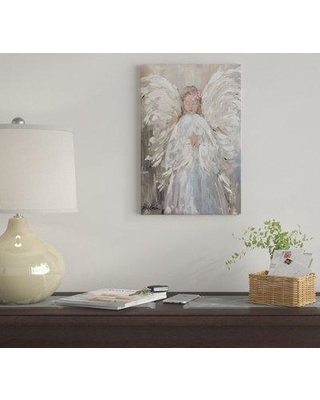"""East Urban Home 'My Angel' by Debi Coules Graphic Art Print on Wrapped Canvas EUME3939 Size: 26"""" H x 18"""" W x 1.5"""" D"""